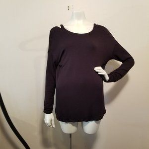 Athleta Sweater Cold Shoulder Crossed Back XS